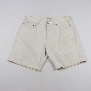 Vintage Guess Spell Out Button Fly Jean Shorts 36
